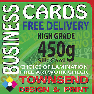 Multi Name 450gsm Silk Full Colour Business Cards, Matt Or Gloss Lamination