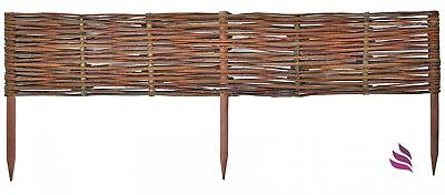 Natural Fence:1 pc (60 x 60cm) Natural woven hurdle, Willow fence - impregnated