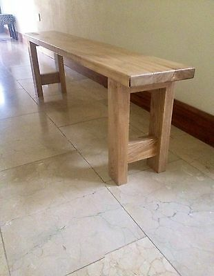 Solid Irish Oak Retro Benches