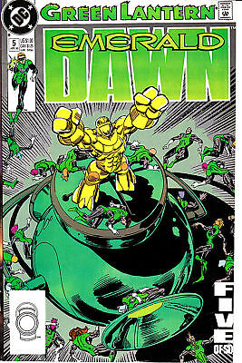Emerald Dawn 5, Green Lantern Orgin retelling, 1989,w2