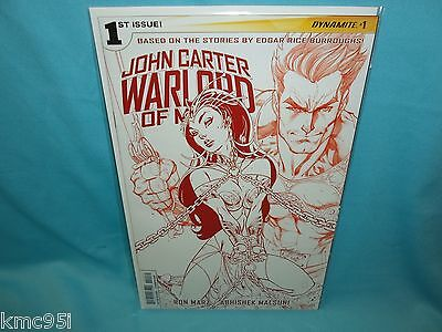 John Carter Warlord of Mars #1 J Scott Campbell Mars Red Variant Comic RARE