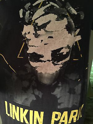 Linkin Park Black Yellow T-shirt Size Medium Slimfit
