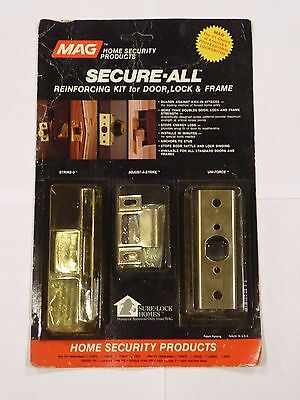 MAG 200-PB Secure-All Reinforcing Kit for Door Lock and Frame Stop Door Kick-Ins