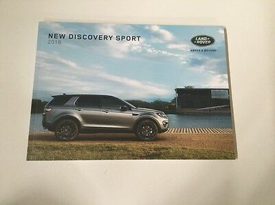 Land Rover Range Rover  New Discovery Sport Sales Brochure 2016 Usa Edition