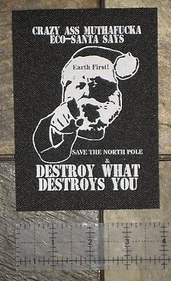 Earth First Liberation Front Patch Punk Vegan Environmental Nature ALF ELF Green