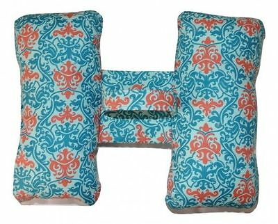 Adult Travel Pillow Teal and Peach, Head Rest