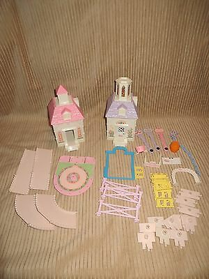 Lot of Vintage Fisher-Price Precious Places Buildings & Accessories