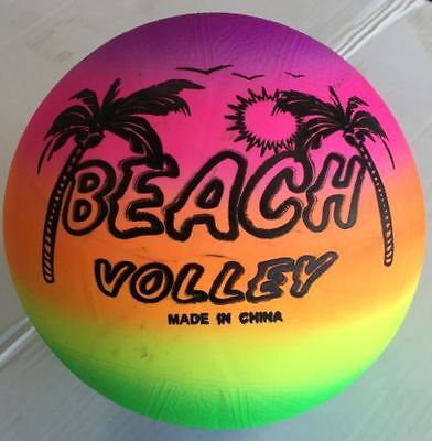 New Rainbow Inflatable Pool Swim Rubber Beach Ball Volley Ball Football Game UK