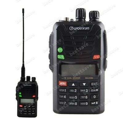 WouXun KG-UV6D 66-88/136-174MHz Dual Band Two Way Radio FM Ham 1700mAh Battery