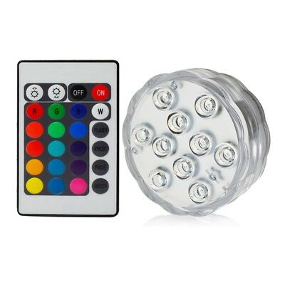 10 Leds Show Battery Florist  Waterproof Underwater Pool Spa Bath Light Remote