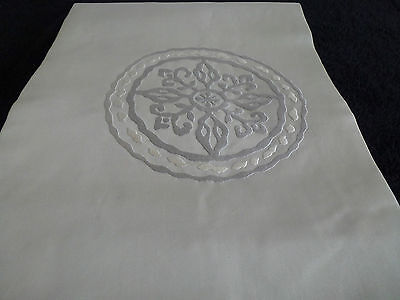 Vintage authentic Japanese silk Nagoya Obi for Kimono, Azureish white (M32)