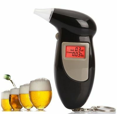 Breathalyser Tester Detecor LCD Digital Alcohol Breath Analyzer Brand New