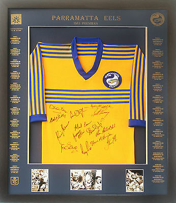 Blazed In Glory - 1981 Parramatta Eels Premiers - NRL Signed & Framed Jersey