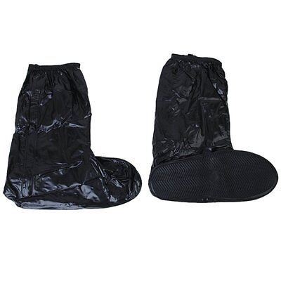 Reusuable Waterproof Shoe Covers for Motorcycle Cycling Black---UK 9-10.5 BF