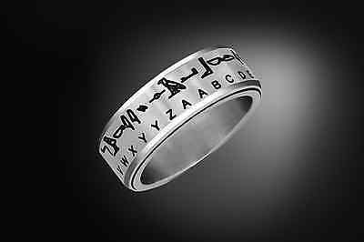 Ancient Egyptian Hieroglyph Translator Ring - Stainless Steel Spinner Ring