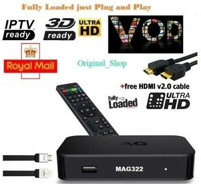 MAG322 IPTV Box With 12 Month Gift Warranty UK Premium Quality Fast Postage*