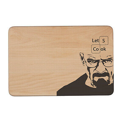Personalised Chopping Board BREAKING BAD Lets Cook Glass Kitchen Gift KS69