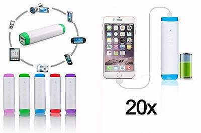20x Lot Universal Portable Battery Charger Power Bank 2600mAh For Mobile Phone