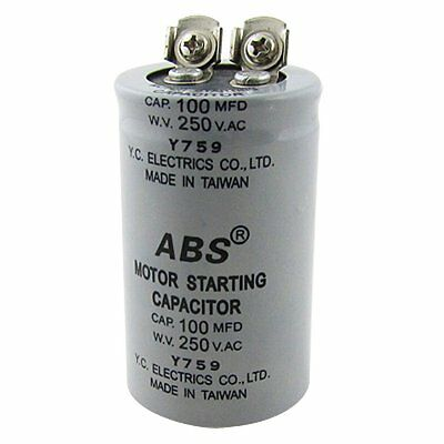 ABS 100MFD 100uF 250V AC Motor Starting Capacitor BF