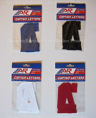 A&R Hockey Team Jersey Captain Letters! Pro, Red Blue Black White, Cs and As