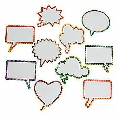 (1) DRY ERASE CONVERSATION BUBBLE MAGNET FRIDGE MAGNET Kids Teachers School