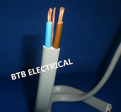 Twin and Earth Cable 6242Y BASEC, 1.0mm,1.5mm,2.5mm,4.0mm,6.0MM. Multiple length