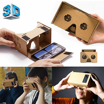GOOGLE CARDBOARD HEADSET 3D VIRTUAL REALITY VR GLASSES FOR ANDROID iPHONE iOS UK
