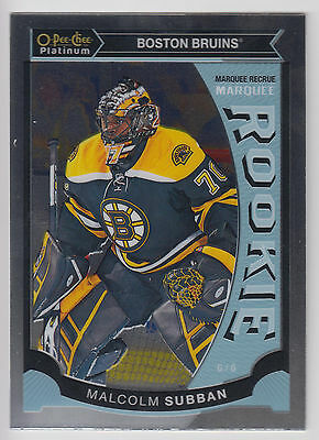 MALCOLM SUBBAN 2015-16 O-Pee-Chee Platinum Hockey Marqueee Rookie #M5 Bruins