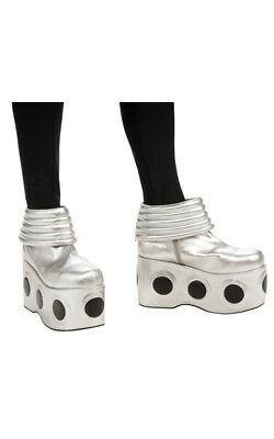 Licensed Kiss Spaceman Deluxe Costume Boots Fancy Dress