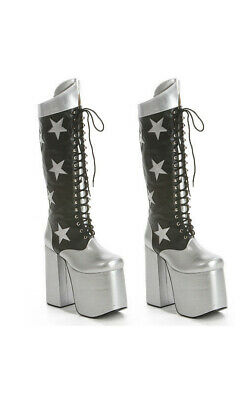 Licensed Kiss  Starchild Deluxe Costume Boots Fancy Dress
