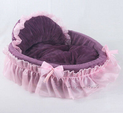 New Princess/Prince Soft Pet Dog Cat Bed House Sofa Mat Cushion Kennel 3color SM