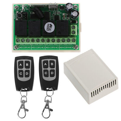 Wireless Remote Control  4CH 315MHz Relay Switch 2 Transceiver + Receiver DC 12V