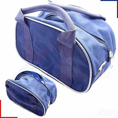 2 Bowls Carrier Holdall Short Handle Bowl Carry Bag - Blue