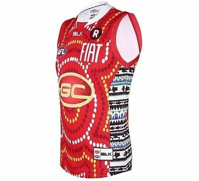 Gold Coast Suns AFL Indigenous Guernsey 'Select Size' S-7XL BNWT6
