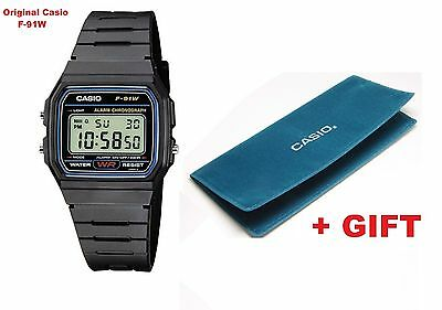 Original Casio New F-91W Alarm Classic Digital Retro Watch + Gift - Case Cover