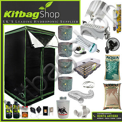 "Grow Tent 120 & Grow Light 600w & 5"" Fan Kit & Canna Coco COMPLETE propagation"