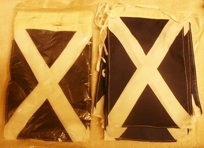 """10M BUNTING SCOTTISH SCOTLAND ST. ANDREWS FLAG Approx 6"""" x 9"""" 18 Pennant"""