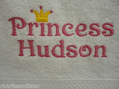 PERSONALISED PRINCE OR PRINCESS Hand TOWEL