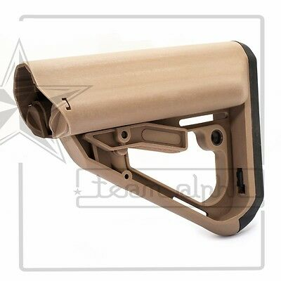 Dark Earth Airsoft TI7 Style Polymer Buttstock 5.56 Tactical Commercial Sliding