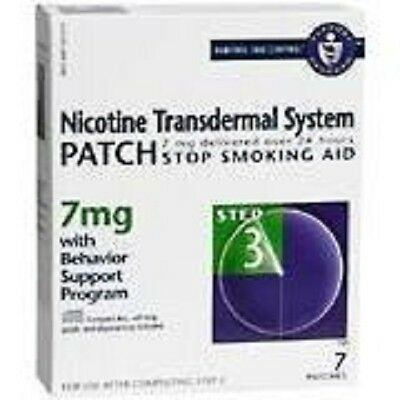 7 patches 7mg Nicotine Transdermal System Patch Stop Smoking Aid Step 3