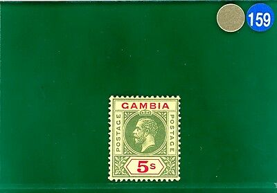 GBLUE159 Gambia 1912 5s top high value very fine fresh mint LMM SG.102 cat £130+