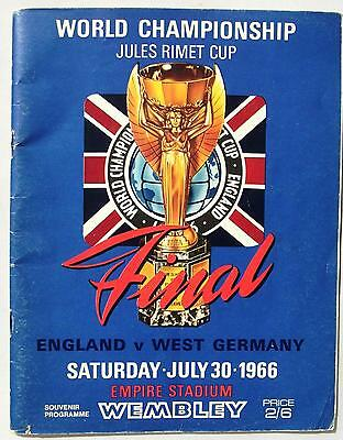 England vs West Germany - World Cup Final 1966 - Original Souvenir Programme