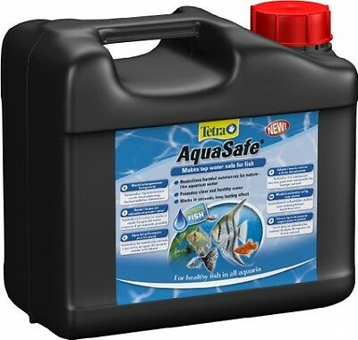 Tetra Aquasafe Water Conditioner tap water into fish safe water 5L FREE POST UK