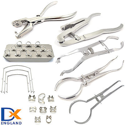 Dental Restorative Rubber Dam Ainsworth Brewer Ivory Clamp Kofferdam Tools CE
