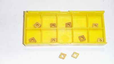 New 10Pcs Cpgm-21.52 Tin Coated Carbide Inserts