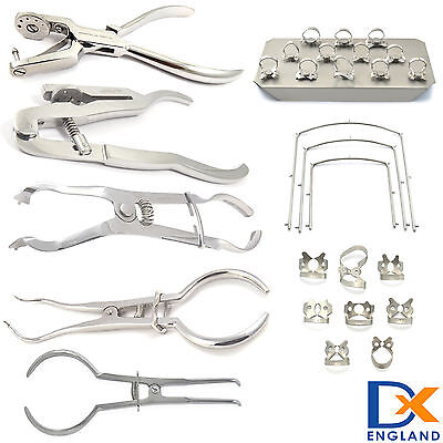 Medentra Dental Rubber Dam Instruments Ainsworth Brewer Frames Ivory Clamps Lab