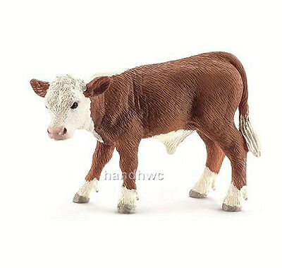 Schleich 13765 Hereford Calf Model Toy Cattle Cow Figurine - NIP
