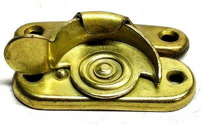 Lot Of 2 Nos Vintage Dull Brass Pressed Steel Sash Lock With Mounting Screws Dm