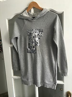 French Connection Girls Longer Length Hooded Top/dress Ex Con 12-13 Years