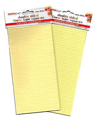 Double Sided Foam Mount Tape Squares Portacraft for Scrapbooking, Cardmaking etc